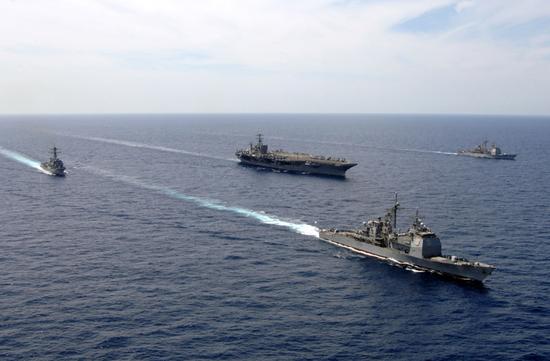 杜鲁门号航母战斗群 图源:美国海军