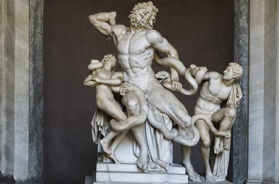 《拉奥孔》,大理石群雕,现收藏于意大利罗马梵蒂冈美术馆
