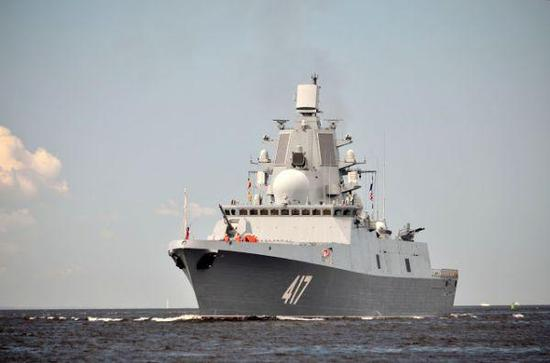 """""""戈尔什科夫海军元帅""""号隐形护卫舰。"""