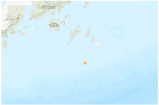 美阿拉斯加州附近海域5.1级地震 震源深度31.3公里