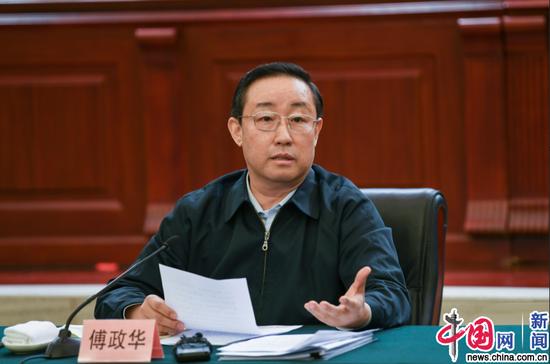 3月29日,司法部召开律师学习宣传贯彻宪法座谈会,司法部部长傅政华出席座谈会并讲话。图片来源:司法部