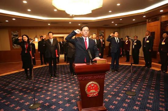 云南代省长王予波的任职发言图片