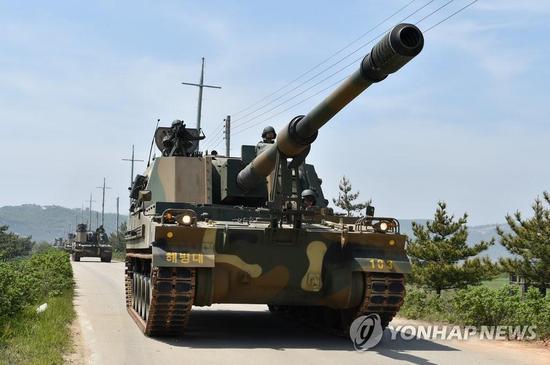 图注:韩国K-9自行榴弹炮