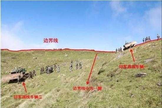 ▲材料图片:2017年6月18日,印度边防部队越界进入中国领土。(新华社)