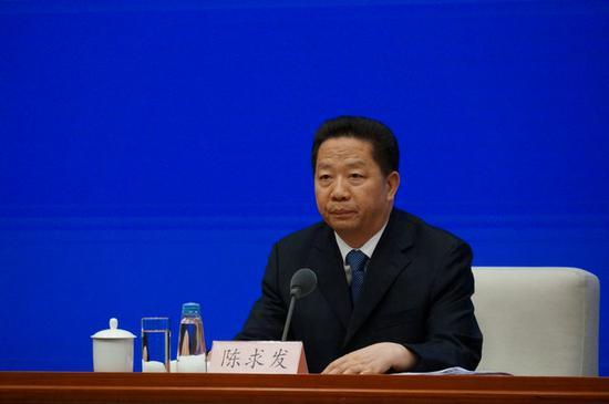 中国共产党辽宁省委书记、黑龙江省人大常委会负责人陈求发(刘亮 摄)