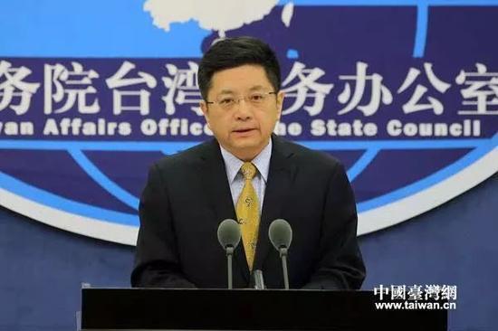 """▲国台办发言人马晓光多次在公开场合表示""""两岸一家亲""""。"""