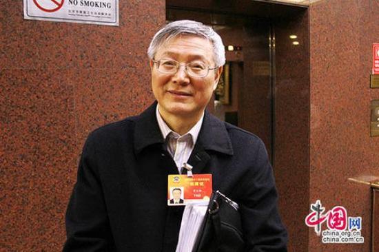 全国政协委员、常州大学史良法学院院长、中国政法大学教授曹义孙 中国网 图