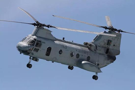 "▲CH-46""海上骑士""直升机(维基百科)"