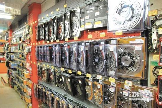 ▲岛内生产的汽车零部件(台湾中时电子报)