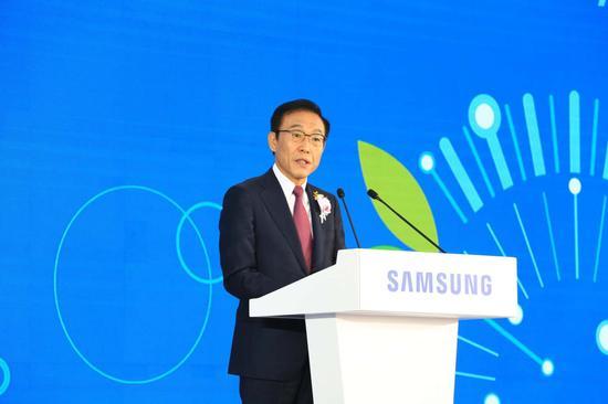 三星电子首席执行官金奇南社长 图片来源:集微网