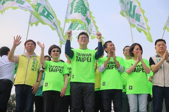 姚文智感谢中南部支持者被讽(图片来源:联合新闻网)