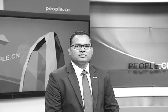 马尔代夫驻华大使费萨尔。