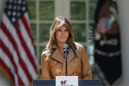 """美第一夫人梅拉尼娅发起""""BE BEST""""活动。(图片来源:今日俄罗斯)"""