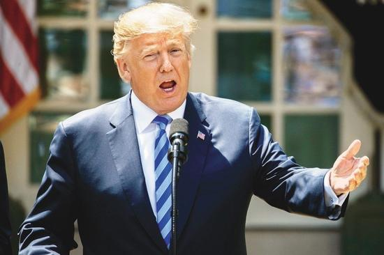 美国总统特朗普(欧新社)