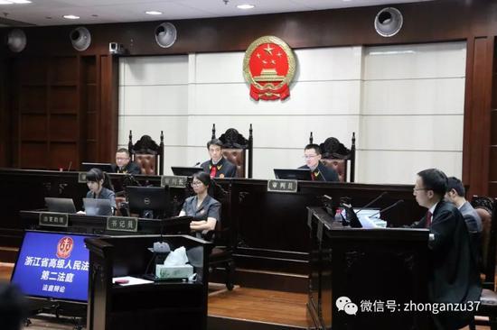 """▲""""杭州保姆纵火案""""庭审现场。"""