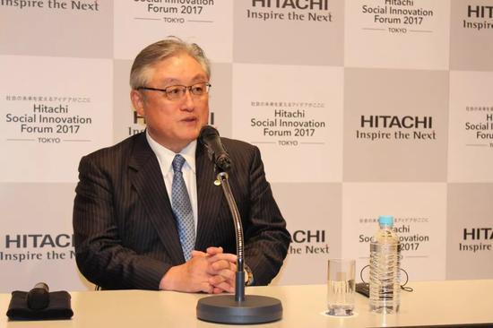 ▲资料图片:日立制作所社长兼CEO东原敏昭