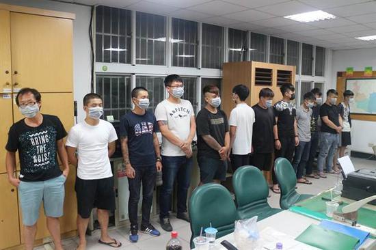 涉案主要犯嫌21人拘捕到案。(中时电子报)