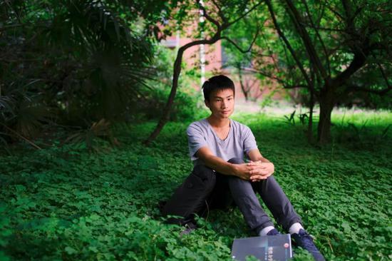 中国科大少年班学院学生周天翼(黄宇 摄)
