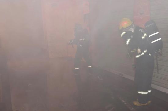 救援现场。图片来源:四川省公安消防总队