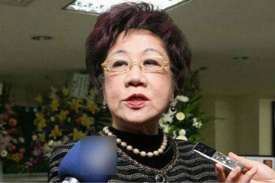 前台湾地区副领导人吕秀莲(图片来源:台湾《中时电子报》)