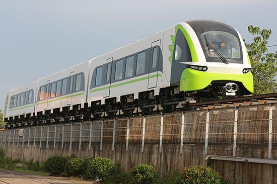 首列磁浮2.0版列车外观。