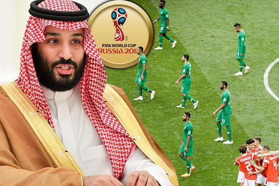 当地时间14日举行的世界杯揭幕战中,沙特队0比5败给了东道主俄罗斯队。