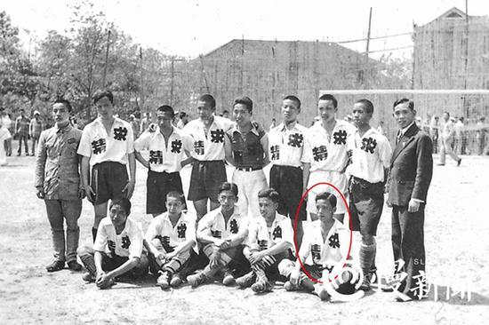 1937年春,参加重庆市第一届运动会的曹越华。