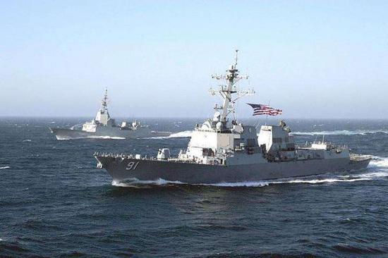 图为执行巡航任务的美海军舰艇