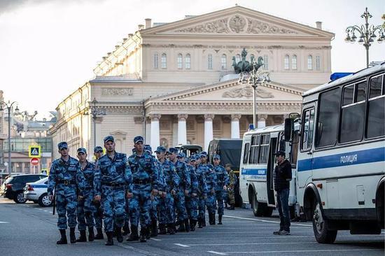 ▲世界杯期间俄罗斯安保措施严密。
