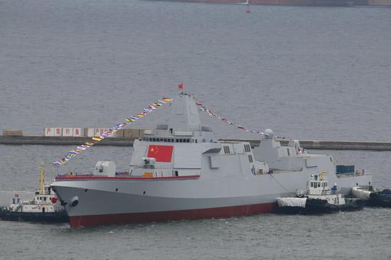 正式出道的055型驱逐舰