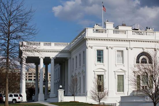 資料圖:這是3月8日在美國華盛頓拍攝的白宮外景。新華社發