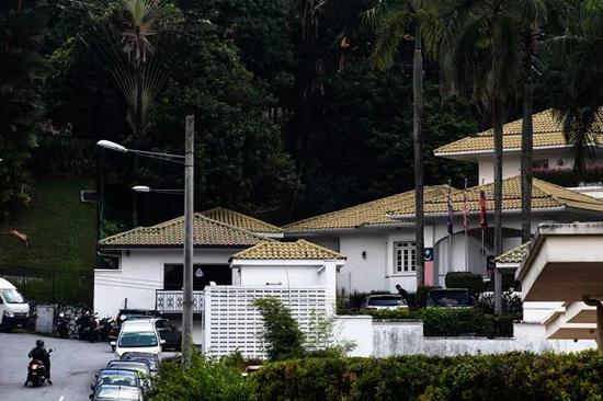 当地时间2018年5月18日,马来西亚吉隆坡,前总理纳吉布的一处住所。