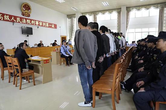 庭审现场 微信公众号@江西政法 图