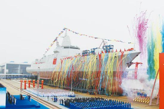 055型驱逐舰资料图(图:台湾《中时电子报》)