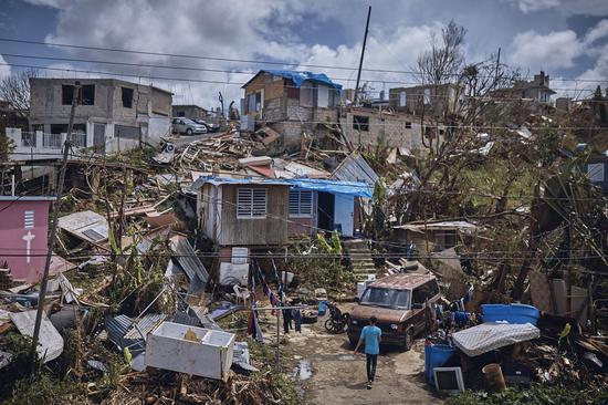 波多黎各灾区一角 图源:《时代周刊》