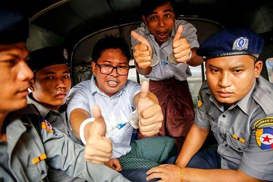 被捕的两名路透社记者