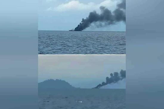 印尼媒体播放的事故现场视频