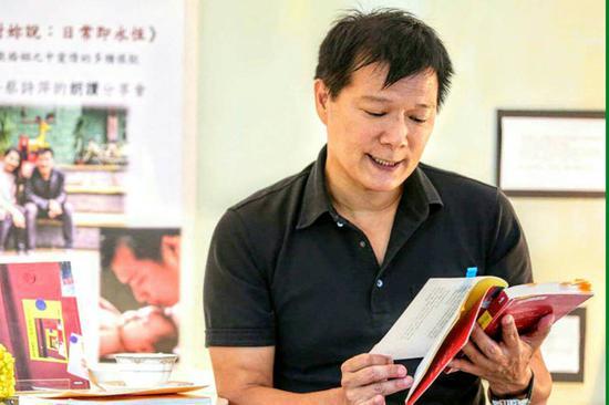 """作家蔡诗萍。(图片来源:台湾""""东森新闻云"""")"""