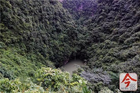 弄乐天坑附近的地下暗河窗口。