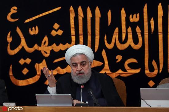 伊朗总统鲁哈僧4日颁发发言,称将进一步中断实行伊核和谈 @IC Photo