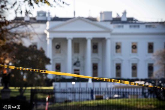 白宫被短暂封锁 @视觉中国