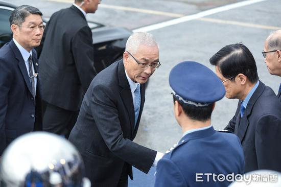 """国民党主席吴敦义。(图片来源:台湾""""东森新闻云"""")"""