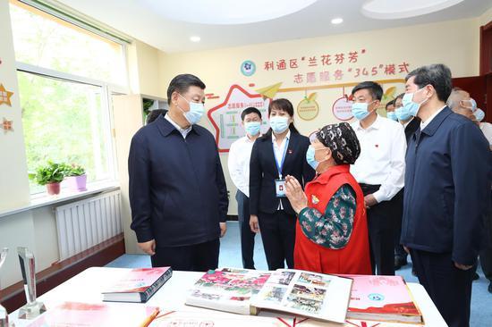 赢咖3:志愿者总书记宁夏考察赢咖3提到了图片