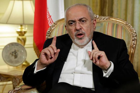 伊朗外交部长扎里夫。(图源:美联社)