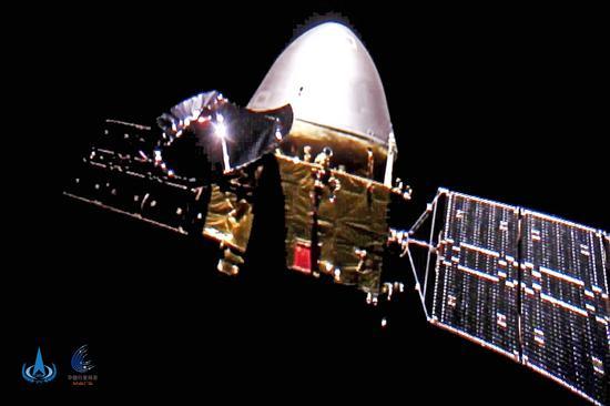天问一号展示一亿公里外的五星红旗(图)图片
