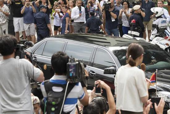 疑似金正恩的专车。图片来源:韩民族日报