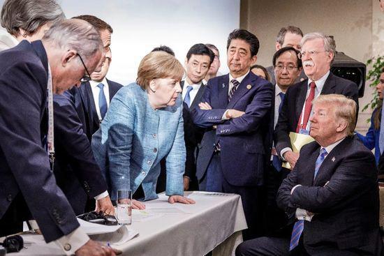 ▲德国总理默克尔发布的G7峰会照片。
