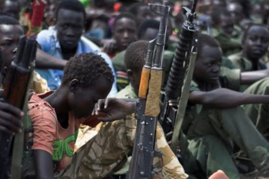 資料圖:南蘇丹的娃娃兵。