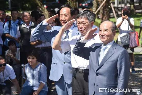 郭台铭、柯文哲、王金平(图片来源:东森新闻云)