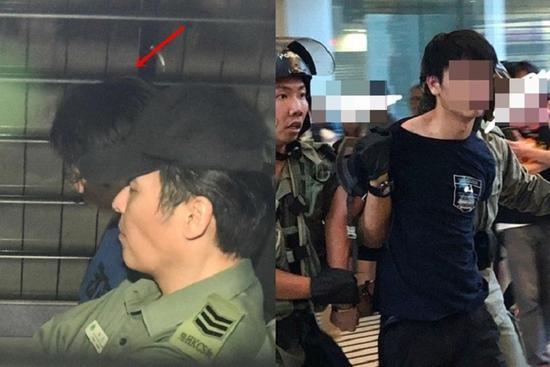 """用利器伤港警暴徒再提堂:没理会""""声援""""自己的人图片"""